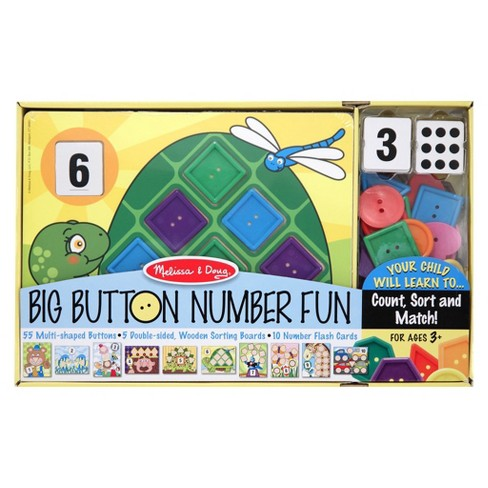 Melissa & Doug® Big Button Number Fun Counting and Matching Activity Set Board Game - image 1 of 2