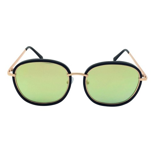 Women's Oversized Sunglasses - Black/Gold - image 1 of 2