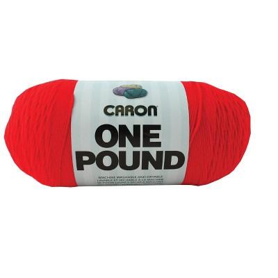 Caron Acrylic Dryable Machine Washable Yarn, 812 yd, Scarlet, 1 lb