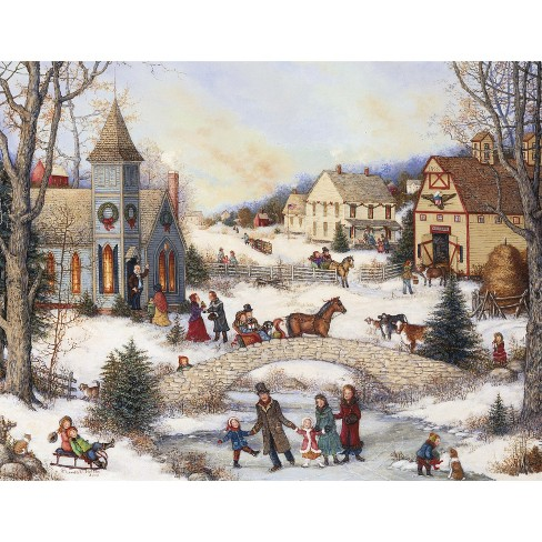 18ct Folk Art Holiday Boxed Cards - image 1 of 2