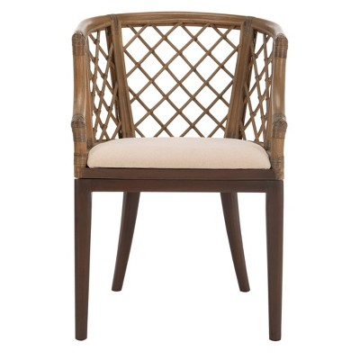 Dining Chair Wood/Light Gray - Safavieh : Target