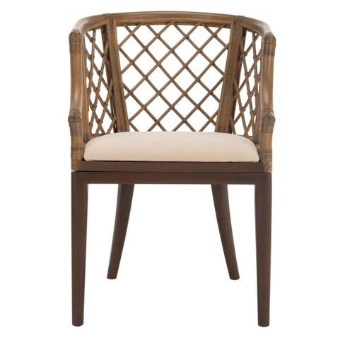 Dining Chair Wood/Light Gray - Safavieh - image 1 of 4