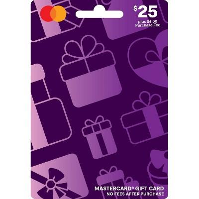 Mastercard Gift Card - $25 + $4 Fee