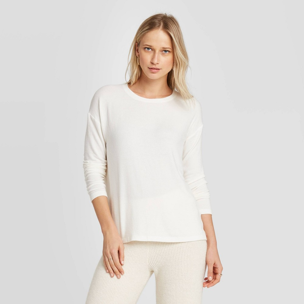 Women's Long Sleeve T-Shirt - A New Day Sour Cream XS, Sour Ivory was $15.0 now $10.5 (30.0% off)
