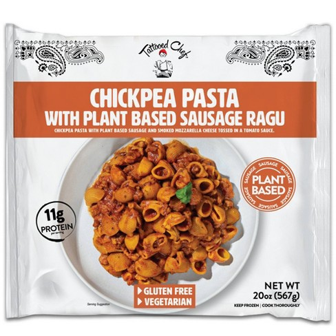 Tattooed Chef Frozen Chick Pea Pasta with Plant Based Sausage Ragu - 20oz - image 1 of 4