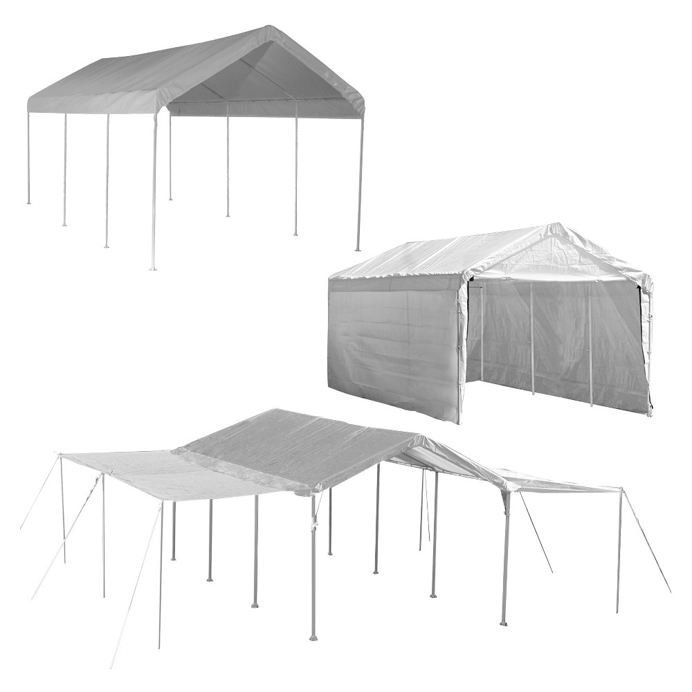 Shelter Logic 20' x 10' Max AP 3 In 1 8-Leg Canopy - White