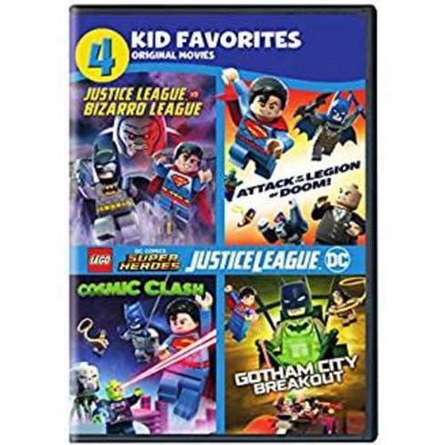 4 Kid Favorites Lego Dc Super Heroes Dvd Target