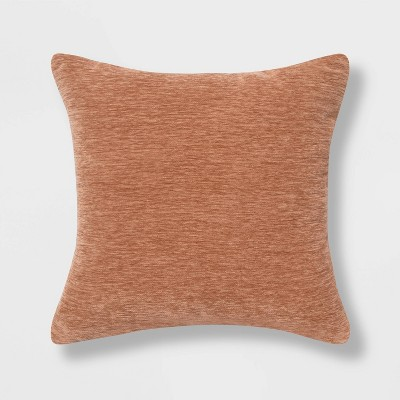Chenille Square Throw Pillow Clay - Threshold™
