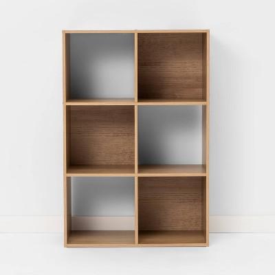 6 Cube Bookshelf Natural - Room Essentials™