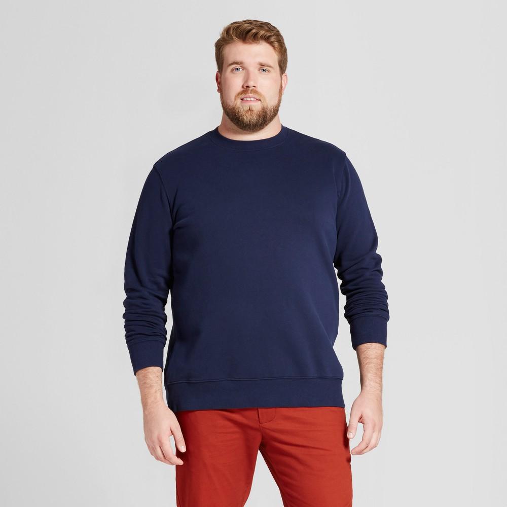 Men's Tall Fleece Crew Neck Sweatshirt - Goodfellow & Co Navy (Blue) Xlt