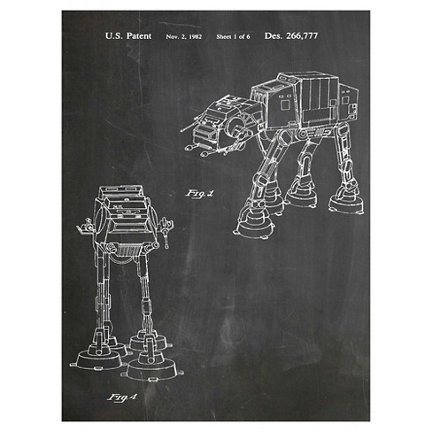 Empire Strikes Back Vehicle by House of Borders Unframed Wall Art Print - image 1 of 2