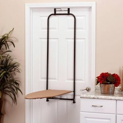 Household Essentials Over The Door Steel Top Ironing Board Bronze