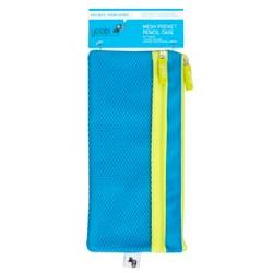 Mesh Pocket Pencil Case Blue - Yoobi™