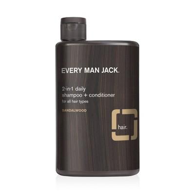 Every Man Jack Sandalwood Daily 2 in 1 Shampoo + Conditioner - 13.5 fl oz