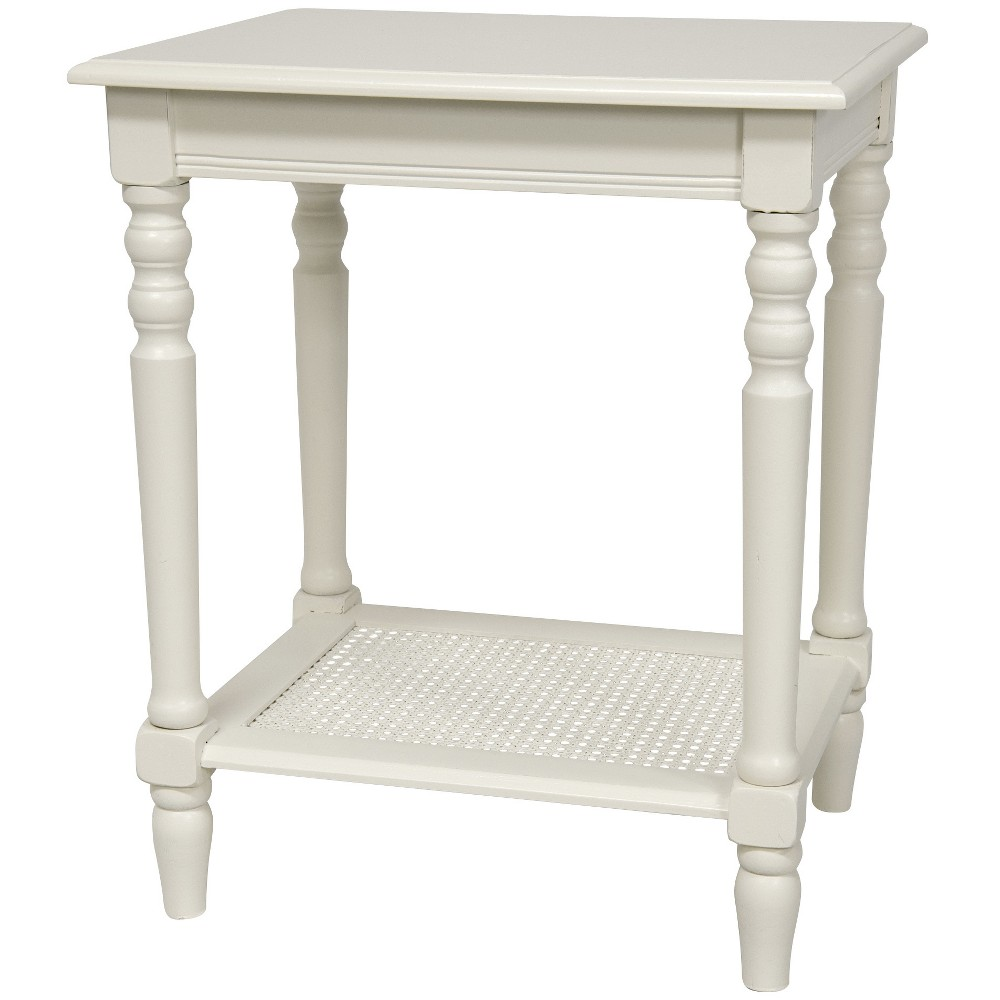 "Image of ""23"""" Classic Design Side Table White - Oriental Furniture"""
