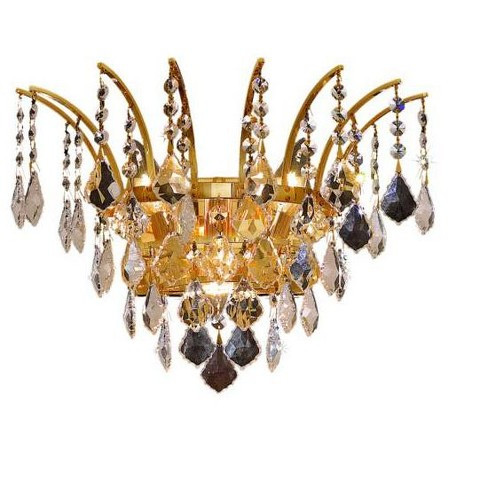 Elegant Lighting 8033W16G Victoria 3-Light Crystal Wall Sconce, Finished in Gold - image 1 of 1