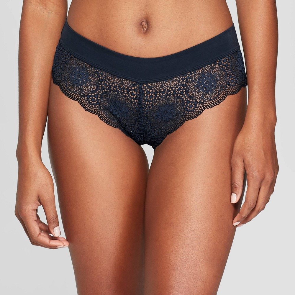 Women's Lace Cheeky with Micro Waistband - Auden Smart Blue M