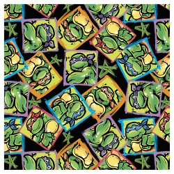 Turtles And Stars Fleece Fabric by the Yard