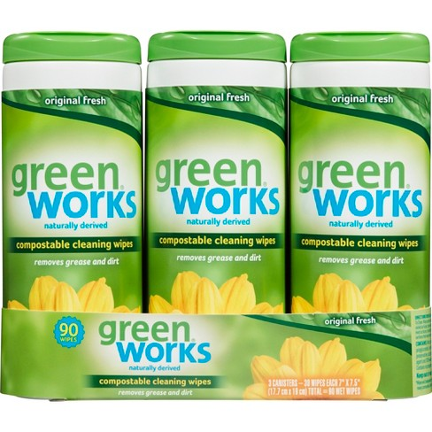 Green Works Compostable Cleaning Wipes Original Fresh - 30ct/3pk - image 1 of 3
