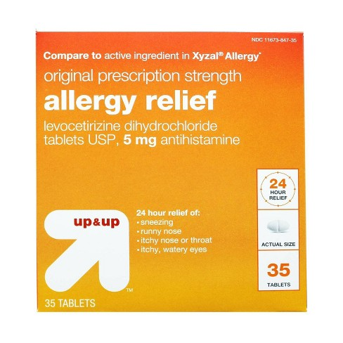 Levocetirizine Allergy Relief Tablets - 35ct - Up&Up™ - image 1 of 2