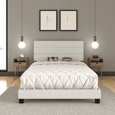 Cosette Linen Channel Upholstered Platform Bed - Eco Dream