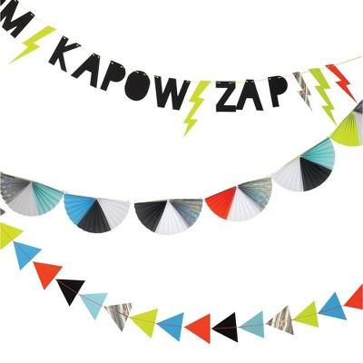 Meri Meri Zap! Superhero Banner – Party Decorations and Accessories - 10'