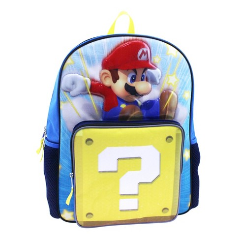 """Nintendo Super Mario 16"""" Kids' Backpack with Sound - Blue - image 1 of 4"""
