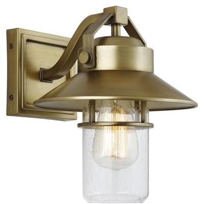 Generation Lighting Boynton 1 light Painted Distressed Brass Outdoor Fixture OL13900PDB