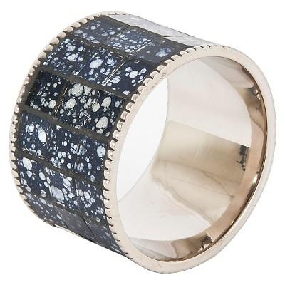 Mosaic Design Napkins Rings - Pewter (Set of 4)