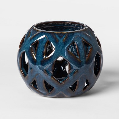 Ceramic Tealight Candle Holder - Blue - Threshold™