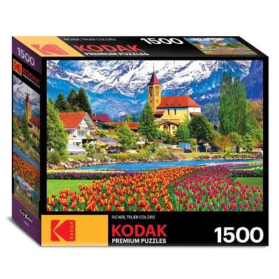 Kodak Brienz Town and Flowers, Switzerland Jigsaw Puzzle - 1500pc