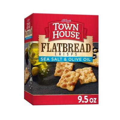 Kellog Town House Sea Salt & Olive Oil Flatbread Crisp Crackers - 9.5oz