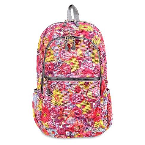 """J World 18"""" Mesh Backpack - Pink - image 1 of 4"""