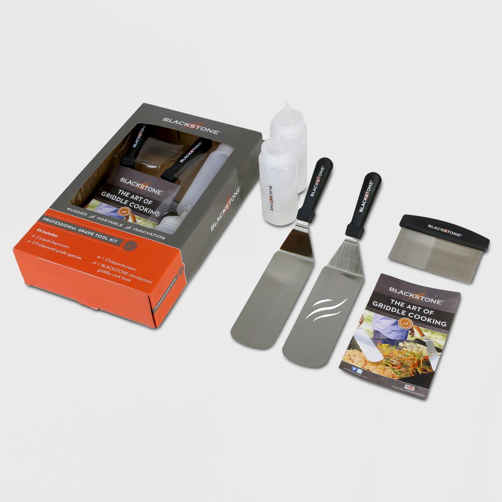 Image of Blackstone Griddle Accessory Kit, Silver/Black