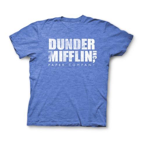 7d3c890180e Men s The Office Dunder Mifflin Short Sleeve T-Shirt - Royal Blue ...