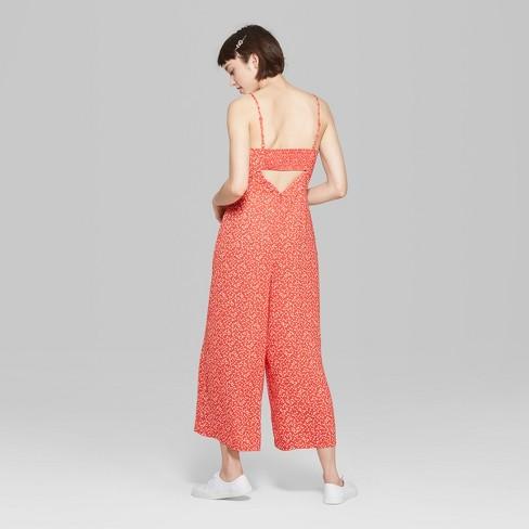 d15d023512f Women s Floral Print Strappy Square Neck Jumpsuit - Wild Fable™   Target