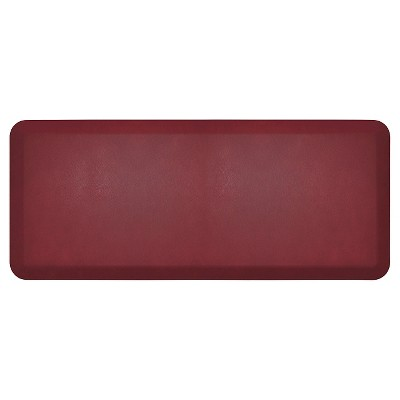 Newlife By Gelpro Comfort Kitchen Mat - Leather Grain Cranberry - 20 X48