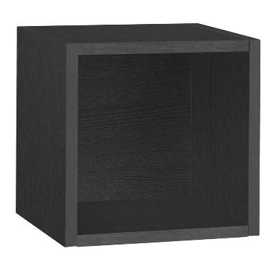 Way Basics Wall Cube - Floating Eco Decorative Wall Shelf - Black - Lifetime Guarantee