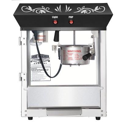 6105 Great Northern Popcorn Black Foundation Popcorn Popper Machine, 6 Ounce