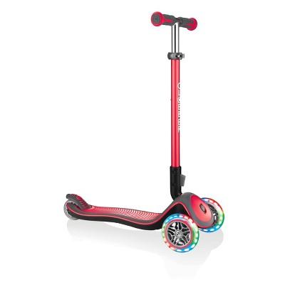 Globber Elite Deluxe Lights Scooter - Red