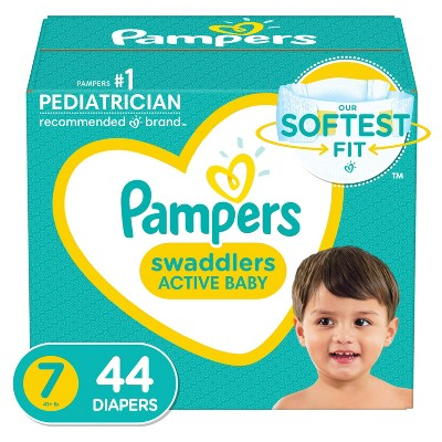 Pampers Swaddlers Diapers Super Pack - Size 7 - 44ct