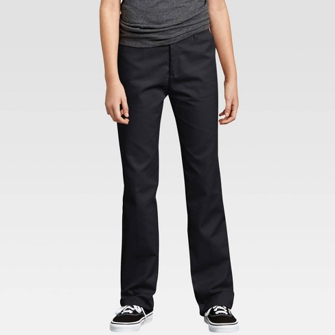 Dickies® Girls' Flex Slim Fit Straight Leg Flat Front Pants  - image 1 of 3