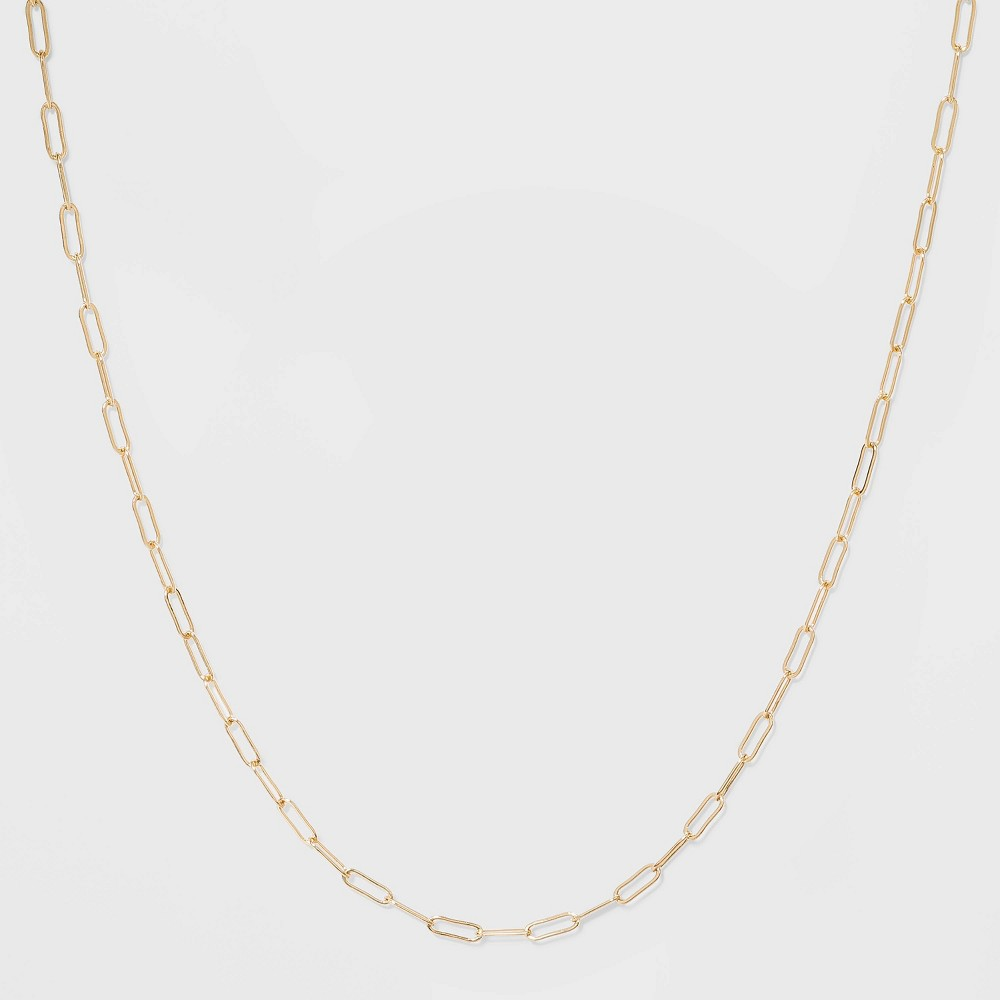 Paper Clip Chain Short Necklace A New Day 8482 Gold