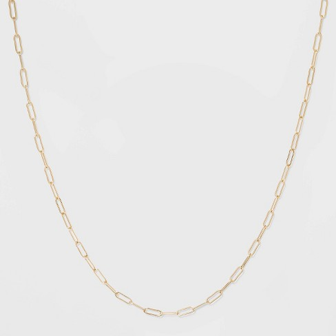 Paper Clip Chain Short Necklace - A New Day™ Gold - image 1 of 3
