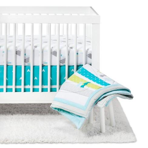 Crib Bedding Set Adventure Awaits 4pc - Cloud Island™ Blue - image 1 of 4
