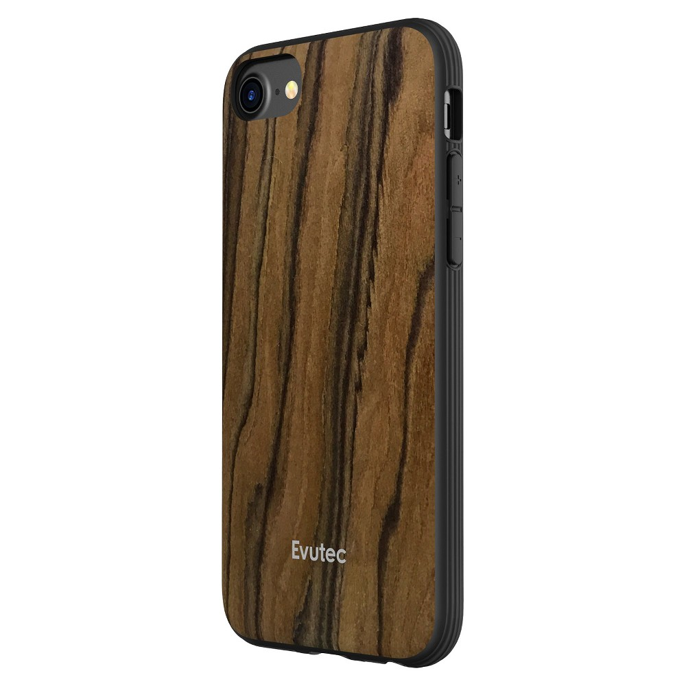 Evutec Apple iPhone 8/7/6s/6 Case with Vent Mount - Walnut (Brown)