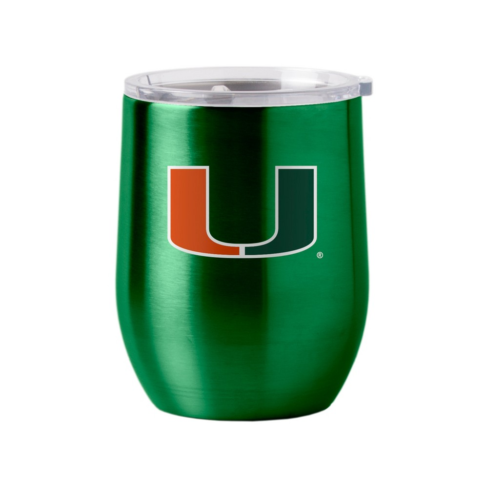 Miami Hurricanes Stainless Steel Ultra Curved Wine Tumbler - 16oz