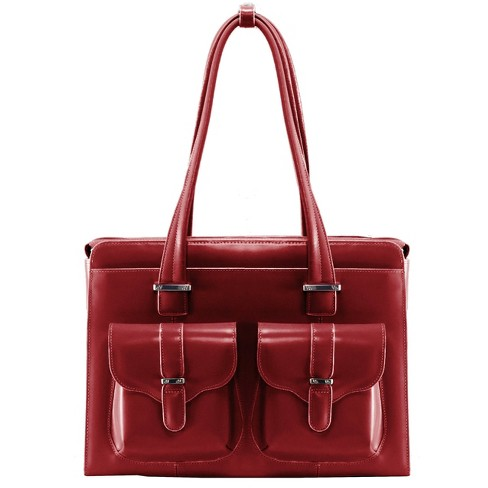 """McKlein Alexis 14"""" Leather Ladies' Laptop Briefcase (Red) - image 1 of 3"""