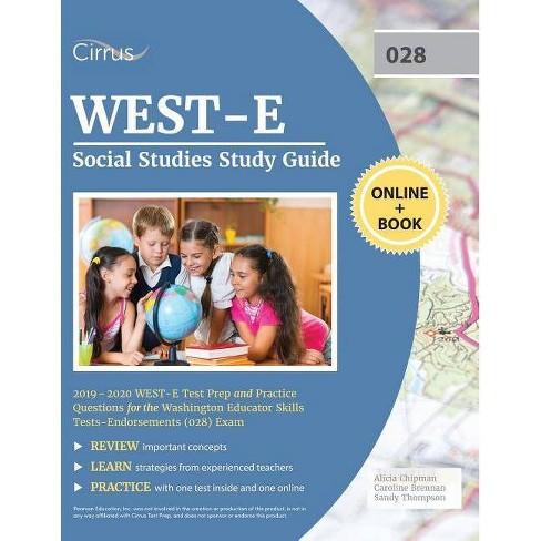 WEST-E Social Studies Study Guide 2019-2020 - by  Cirrus Teacher Certification Exam Team (Paperback) - image 1 of 1