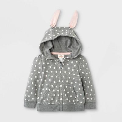 Baby Girls' Bunny Zip-Up Hoodie - Cat & Jack™ Gray